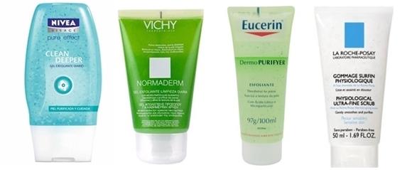 Cremes pele oleosa - esfoliação