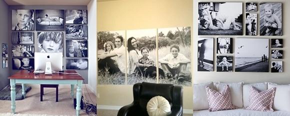 Decoração com Fotos - painel