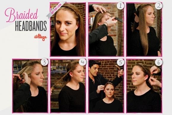 Penteados fáceis de fazer - - franja entrançada
