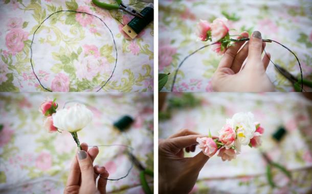 Tiara de Flores: Como fazer
